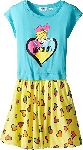 Moschino Kids Girl's Heart Graphic T-Shirt & Skirt Set (Big Kids) Sky Clothing Set by Moschino Kids