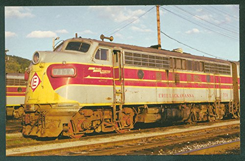 - Erie Lackawanna Delaware Western DL&W RR Train Diesel Engine Railroad Postcard
