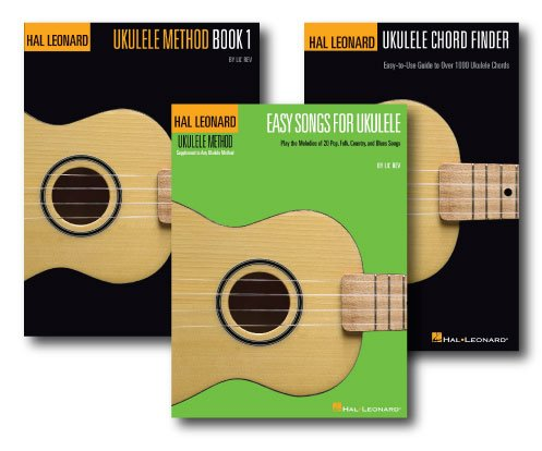 Play Ukulele Fast Pack - Three Book Set - Includes Ukulele Chord Finder, Hal Leonard Ukulele Method with and Easy Songs for the Ukulele. ()