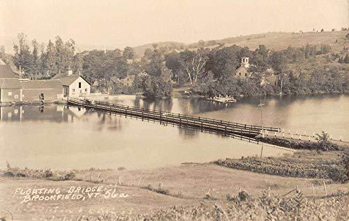Brookfield Vermont Floating Bridge Real Photo Antique Postcard K99441