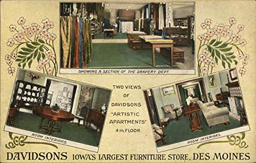 Davidsons Iowa's Largest Furniture Store Des Moines Original Vintage Postcard (Stores Moines Des Furniture)