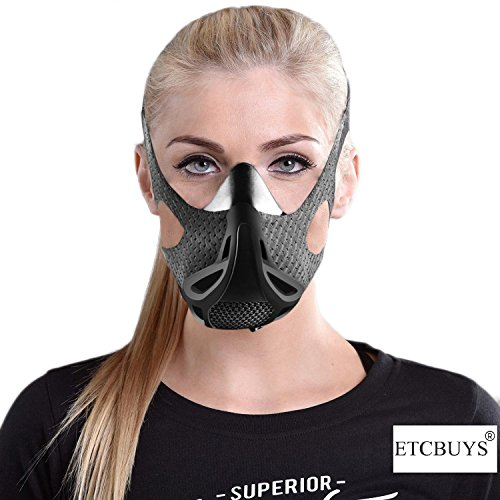 Sport Workout Training Altitude Mask - for Strength & Agility Workout Mask - High Altitude Elevation Simulation - for Running, Cycling, Cardio, Fitness, Endurance Training - Hypoxic Resistance Mask by ETCBUYS