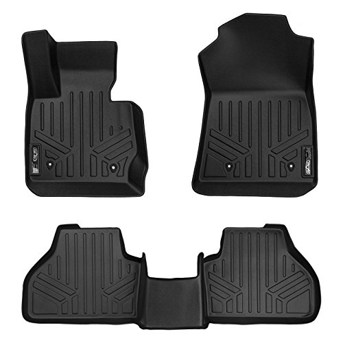 SMARTLINER Floor Mats 2 Row Liner Set Black for 2011-2017 BMW ()
