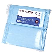 Dealmed Brand Disposable Underpads Blue, 24  x 17  Economy Tissue Fill 100 Count