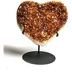Astro Gallery Of Gems Citrine Cluster Heart (Large) from Uruguay