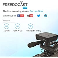 Freedocast Pro-Live Streaming Device | Live Stream to Facebook Live,YouTube Live,Twitter/Periscope