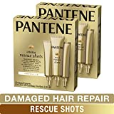Pantene, Rescue Shots Hair Ampoules Treatment, Intensive Repair of Damaged Hair, Pro-V, 0.5 fl oz (3 Count), Twin Pack