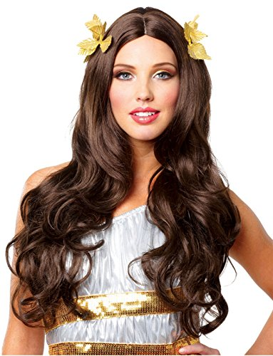 Deluxe Wreath - Costume Culture Women's Goddess Wig with Wreath Deluxe, Brown, One Size