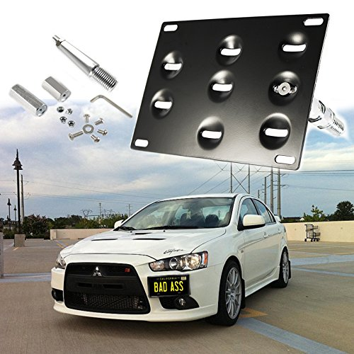 Xotic Tech 1 Set Front Tow Hook License Plate Bumper Mounting Bracket Fit Mitsubishi Lancer Evolution Evo X