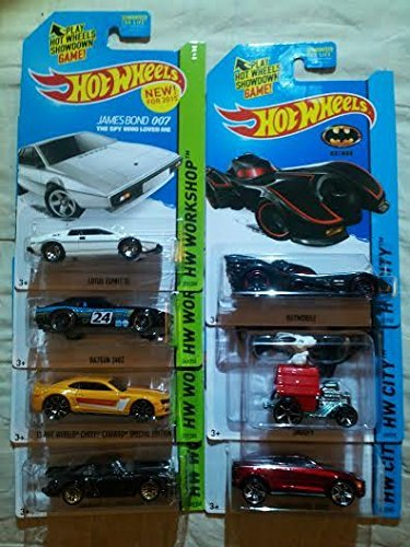2015 Hot Wheels - James Bond 007 Lotus Esprit S1, Datsun 240Z, 2013 Chevy Camaro Special Edition, Porsche 934 Turbo RSR, Batmobile, Snoopy, Lamborghini Urus - Lot of 7!
