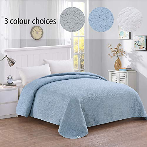 (Simple&Opulence Washed Super Soft Polyester Quilt Bedspread (Queen,)