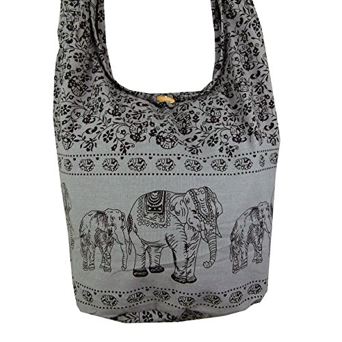 Sling Hobo Hippie Bags Purse Boho Cross Messenger Festival Elephant Grey Body SfIqqE
