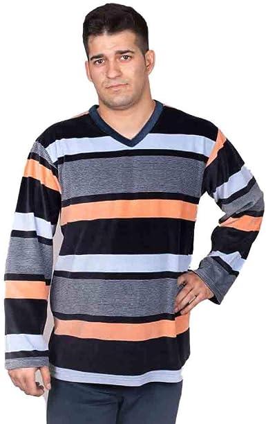 Babelo Pijama de Hombre tondosado 1054 - Marino, 60: Amazon ...
