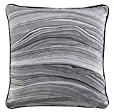 Kravet Modern Luxe Swirl Pillow in Gray
