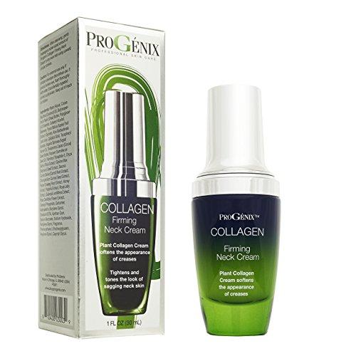 ProGenix Collagen Firming Neck Cream – Skin Tightening Neck Cream with Collagen, Shea Butter, Poppy Oil, and Vitamin E. 1oz Bottle.