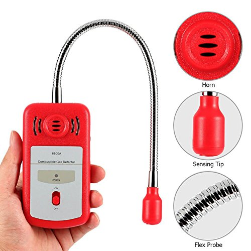 Combustible Gas Detector Portable Natural Gas Leak Detector Tester with Sound Light Alarm Gas Sniffer — Tektree by Tektree (Image #4)