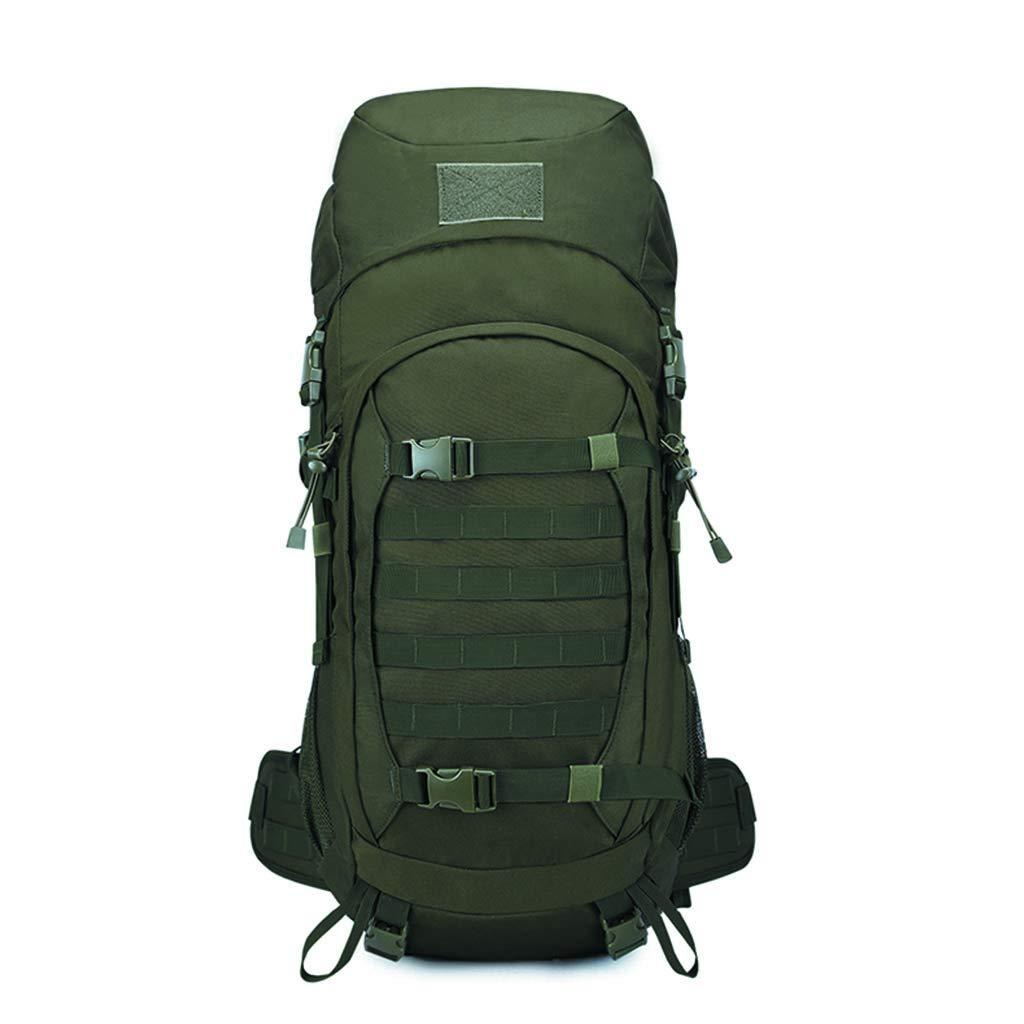 50L 多機能キャンバスバックパック 大容量 登山用バッグ バックパック (ミリタリーグリーン) B07GT1599G A