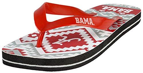 College Flip - Flop Womens Aztec Size X - Large Pick Team - The University of Alabama -