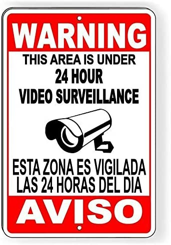 Opinión sobre Yohoba CCTV Warning Security Audio Video Surveillance Camera Sign English/Spanish SS004