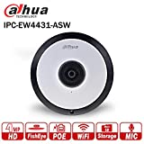 Dahua 4MP Poe WiFi Dome IP Camera IPC-EW4431-ASW 1.6mm FishEye Outdoor Network Camera Audio Alarm Built-in MIC SD Card Slot Night Vision Smart H.265 For Sale