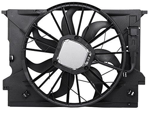 (TOPAZ 2115001693 Radiator Cooling Fan Assembly for Mercedes W211)