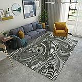 Modern Bath Mat 3D Digital Printing Mat Optical Illusion Background Modern Geometric Non Slip Area Rugs Floor Mat Living Room Bedroom Carpets Doormats Home Decor