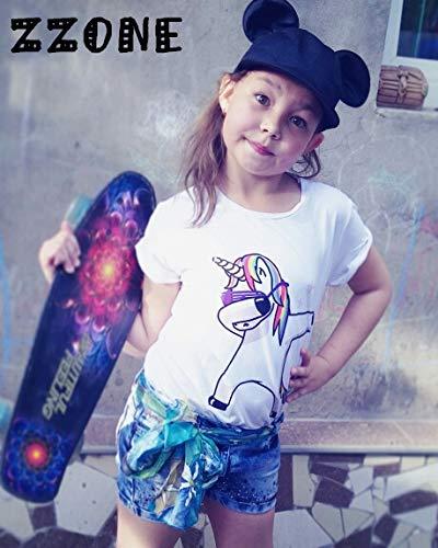 T-Shirt Bambino Bambina Maglietta Me Contro t/è Unicorno