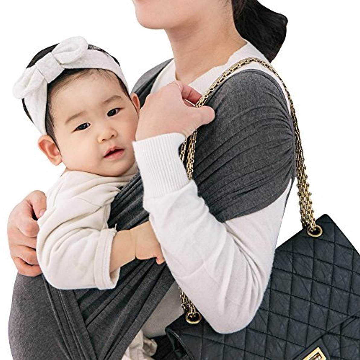 プレビスサイトマージ弱めるCuby ベビースリング ベビーキャリア 抱っこひも 新生児 対象0~2歳 片肩 日本国内安全基準適合品 説明書あり (森)