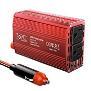 Amazon Lightning Deal 74% claimed: Foval Car Power Inverter 300W DC 12V to 110V AC Converter with 4.8A Dual USB Charger