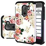 Jitterbug Smart2 Case, Harryshell Shock Absorption Drop Protection Hybrid Dual Layer Armor Defender Protective Case Cover for Jitterbug Smart 2 (Flower)