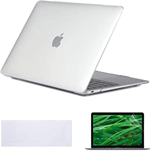 Se7enline MacBook Air 12 inch Case 2015/2016/2017/2018/2019 Laptop Hard Shell Cover for MacBook 12-Inch Model A1534 with Retina Display, Keyboard Cover+ Screen Protector, Crystal Clear/Transparent