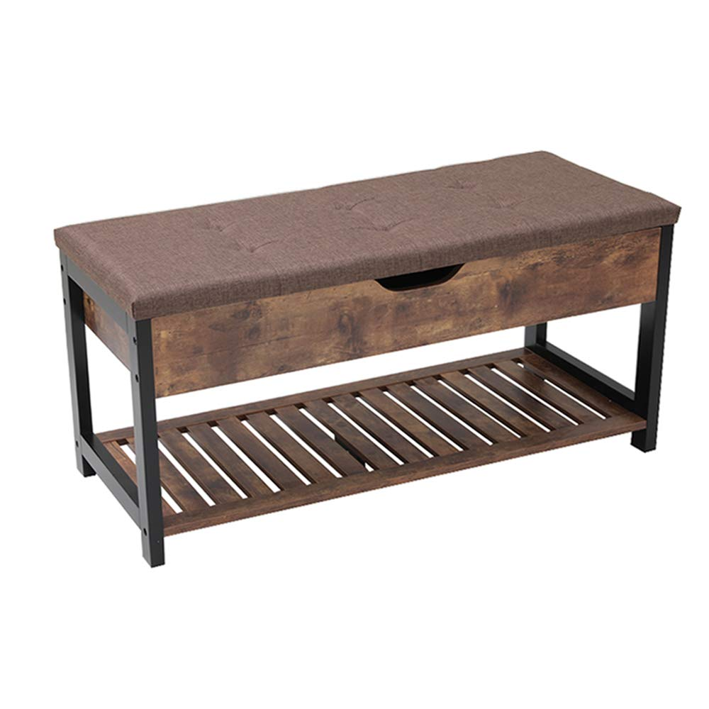 Usikey Shoe Bench with Storage Shelf, Multifunctional Storage Bench with Padded Cushion, Perfect for Entryway, Hallway, mudroom, Living Room and Corridor by Usikey