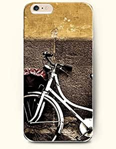 SevenArc New Apple iPhone 6 ( 4.7 Inches) Hard Case Cover - White Bike Leaning against the Wall