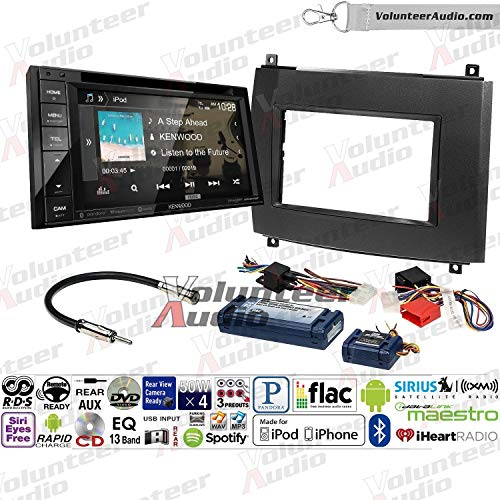 Volunteer Audio Kenwood DDX276BT Double Din Radio Install Kit with Bluetooth, Sirius XM Ready, Touchscreen Fits 2003-2007 Cadillac CTS, 2004-2006 SRX ()