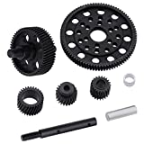 HobbyPark Metal Hardened Steel Helical Transmission Gears Set for Axial SCX10 SMT10 AX10 1/10 Scale RC Crawler Car