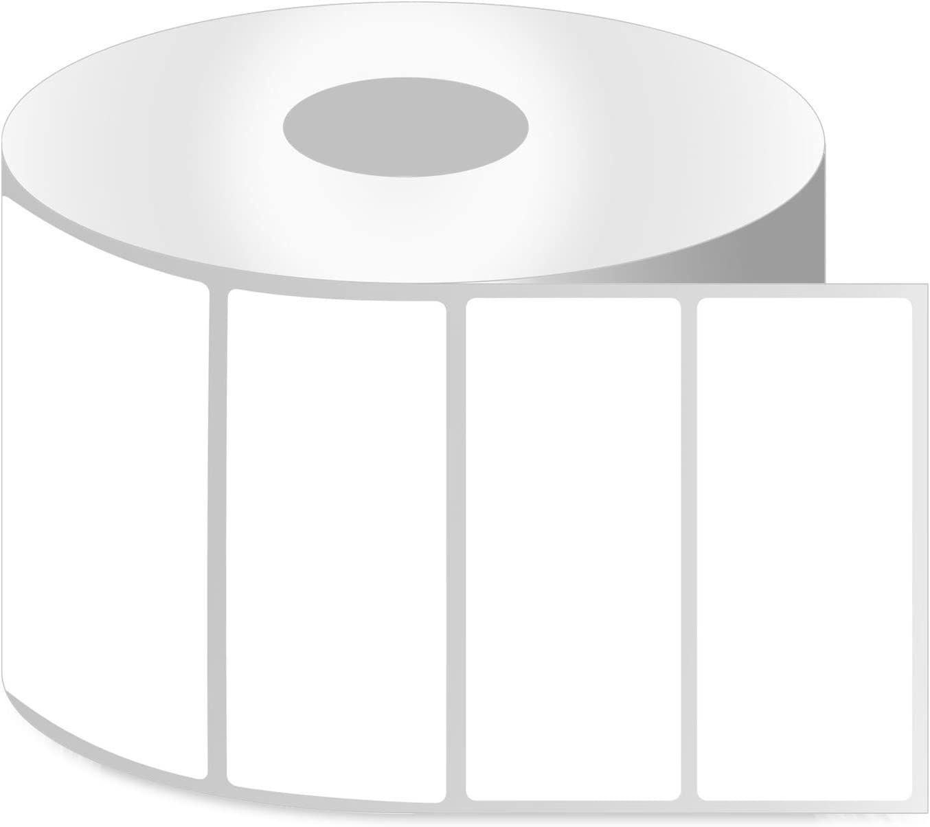 """4"""" x 1"""" [ OfficeSmartLabels ] ZE1400100 Direct Thermal Labels, Compatible with Zebra Printers Postage Barcode Shipping Desktop Printer Sticker - 12 Rolls / 1"""" Core"""