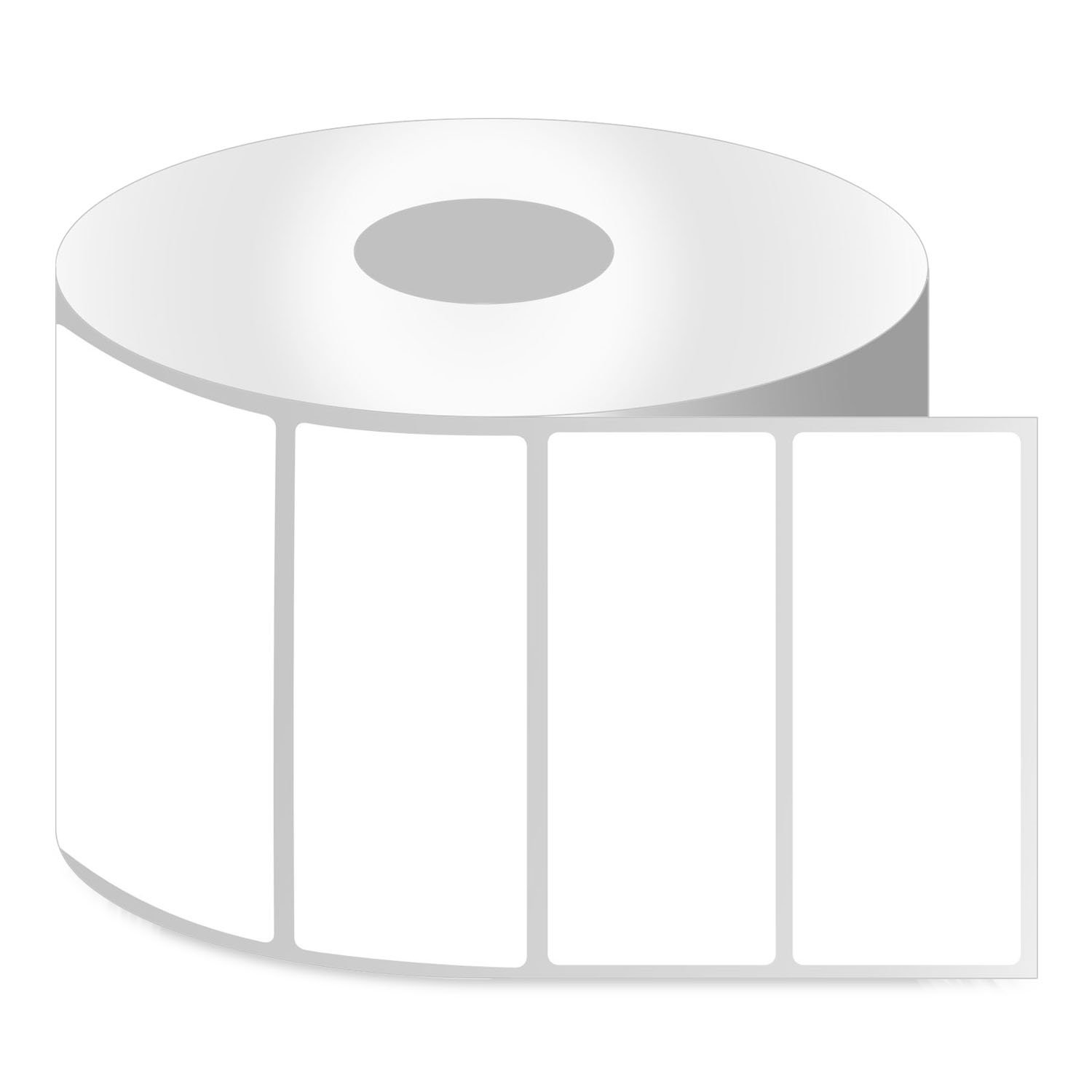 OfficeSmart Labels ZR1400200-4 x 2 Inch Removable Direct Thermal Labels, Compatible with Zebra Printers (11 Rolls, White, 750 Labels Per Roll, 1 inch Core) by OfficeSmartLabels