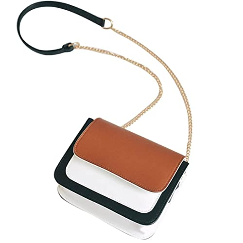 d75c5913cfe83 QinMM Mode Frauen Leder Kette Handtasche Crossbody Umhängetasche Messenger  Handytasche Schöne Einkaufstasche Reise Täglich Beige Braun