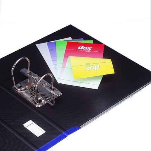 Rexel Dox 1 - Archivador de anillas con palanca (formato A4), color azul: Amazon.es: Oficina y papelería
