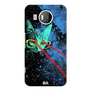 DailyObjects Laser Cat Space Case For Microsoft Lumia 950 XL
