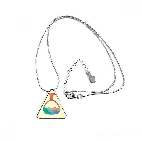 Cartoon Cone Bottle Chemistry Pattern Triangle Shape Pendant