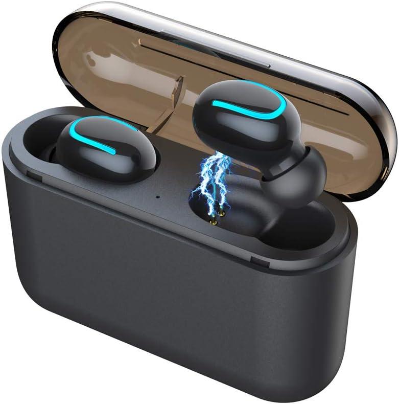 Festnight HBQ-Q32 Verdaderos Auriculares inalámbricos con Bluetooth In-Ear Auriculares Deportivos Estéreo Música Auriculares Bluetooth 5.0 1500mAh Caja de Carga Carga de Emergencia