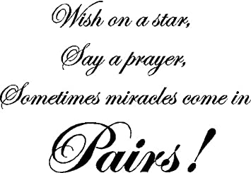 Wish On A Startwins Wall Quotes Sayings Words Removable Nursery