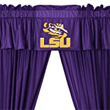 NCAA Louisiana State LSU Tigers - 5pc Jersey Drapes Curtains and Valance Set