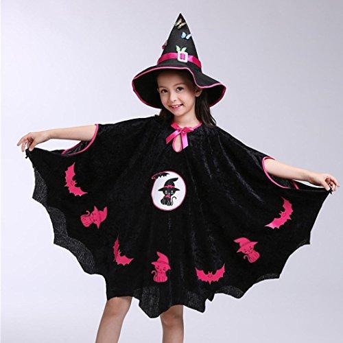 Cloak Noir Vêtements sac Citrouille Enfants Cartoon Cape Halloween Déguisement Parties Outfit hat Cosplay Chic Habille 3 Pièces Adeshop Filles Ensemble De Halloween 1wXHFq
