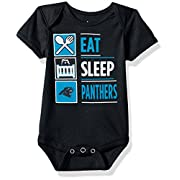 NFL by Outerstuff NFL Carolina Panthers Boys Newborn All I Do Short sleeve Onesie, Black, 69 Months