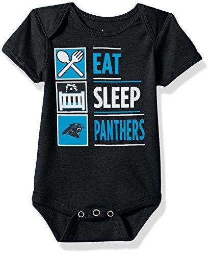 NFL by Outerstuff NFL Carolina Panthers Boys Newborn All I Do Short sleeve Onesie, Black, 69 ()