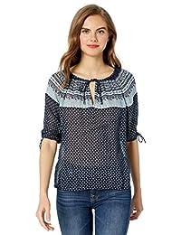 d7edb54fd Lucky Brand Womens Floral Border Print Tee T-Shirt