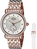 GV2 by Gevril Marsala - Sub Eye Womens Swiss Quartz White Leather Strap Watch, (Model: 9832)
