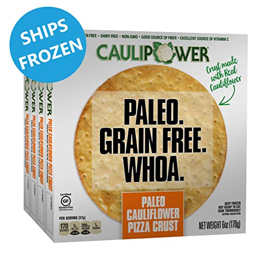CAULIPOWER Paleo Cauliflower Pizza Crusts, Grain Free, Gluten Free, Non-GMO, Lower Carb (4 Crusts) (Best Paleo Pizza Crust)